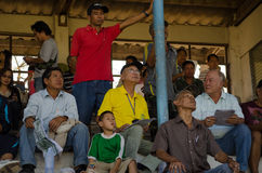 Racegoers, Chiang Mai, Tailândia Fotografia de Stock