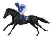 Racehorse Royaltyfri Fotografi