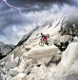 racer on avalanche Royalty Free Stock Images
