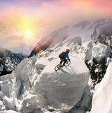 racer on avalanche Stock Image