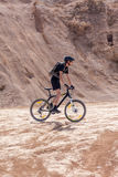 Racer bike desert area Royalty Free Stock Photos