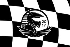Racer checkered flag. Stock Images