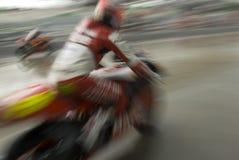 racer för blurrörelsemotorbike Royaltyfri Fotografi