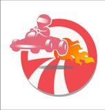 Racer gokart royalty free stock photos