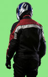 Racer on a Green Screen Royalty Free Stock Photo