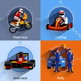 Racer Icons Set Royalty Free Stock Images