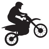 Racer on motorcycle Stock Photos