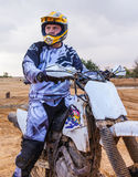 Racer on a motorcycle. Sports background royalty free stock photo
