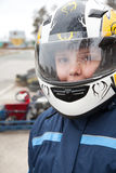 Racer in protective helmet Royalty Free Stock Images