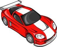 racer samochodów czerwono street Obrazy Royalty Free