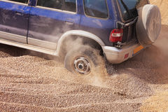 Racer stuck in the sands of the desert Royalty Free Stock Photo