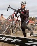 racer thompson för ben cyclocrossförlage Arkivbild