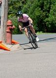 Racer Turns Corner at Stillwater Royalty Free Stock Photo