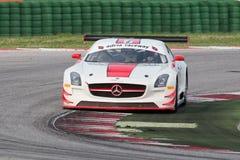 RACERBIL FÖR MERCEDES SLM AGM GT3 Arkivfoton