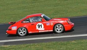 Racerbil för Porsche 911 CS 964 Fotografering för Bildbyråer