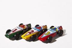 Racerbil N°1, N°2, N°3, hög av modeller arkivbilder