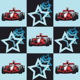 Racerbil och stjärnor modell royaltyfri illustrationer
