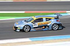 Racerbil på TT-strömkretsen Assen, Drenthe, Holland, Nederländerna Royaltyfri Bild
