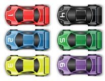 Racerbil som trimmar kulört springa för sportbil Fotografering för Bildbyråer