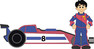 Racerbilchaufför Royaltyfria Bilder