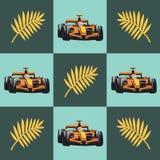 Racerbilen och gömma i handflatan filialen modell royaltyfri illustrationer