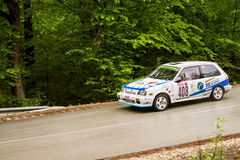 Racerbilen på Miskolc samlar Ungern Arkivbild