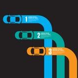 Racerbilinfographics stock illustrationer
