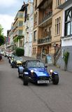 Racerbilturism på gatorna i den Boppard Tyskland royaltyfria foton
