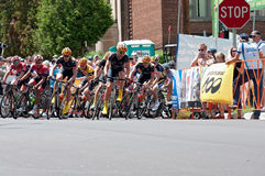 Racers Atop Chilkoot in Stillwater Criterium Stock Photo