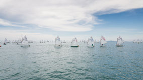 Racers line up ready to start Royalty Free Stock Images
