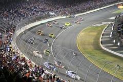 Racers Roar Through Turn 1 Stock Photos