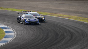 Races Dual Battle RAYBRIG NSX CONCEPT-GT GT500 with WedsSport AD Royalty Free Stock Image
