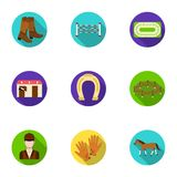 Races on horseback, hippodrome. Horse racing and equipping riders.Hippodrome and horse icon in set collection on flat. Style vector symbol stock web Royalty Free Stock Photo