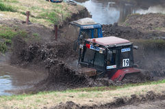 Races on the rough terrain, Don-25, Rostov-on-Don, Russia, June 5, 2016. Races on rough terrain, take place annually at the former testing ground `Don-25` stock image