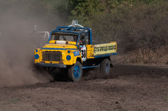 Races on the rough terrain. Races on rough terrain, take place annually at the former testing ground `Don-25`, Rostov-on-Don, Russia, At different times, cars Royalty Free Stock Photography