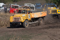 Races on the rough terrain. Races on rough terrain, take place annually at the former testing ground `Don-25`, Rostov-on-Don, Russia, At different times, cars stock images