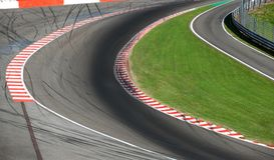 racetrack stock foto
