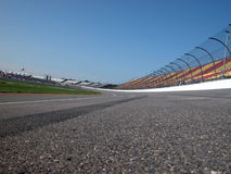 Racetrack. Superspeedway racetrack with skid mark on asphalt Royalty Free Stock Photography