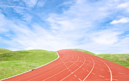 Racetrack with blue sky Stock Image