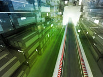 Racetrack color flare in city urban space Stock Photo