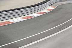 Racetrack curve Stock Photos