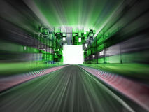 Racetrack in green city blur background Stock Photos