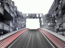 Racetrack hill in modern city space Royalty Free Stock Photo