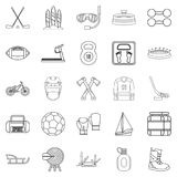 Racetrack icons set, outline style. Racetrack icons set. Outline set of 25 racetrack vector icons for web isolated on white background Stock Images