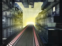Racetrack in morning light bussiness city Royalty Free Stock Photos