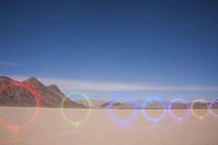 Racetrack Playa - Death Valley National Park - Light Painting Image Royalty Free Stock Photos