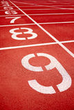 Racetrack in red. With track number Royalty Free Stock Image