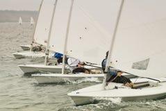 raceyacht Royaltyfri Foto