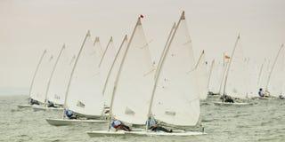 raceyacht Arkivfoto