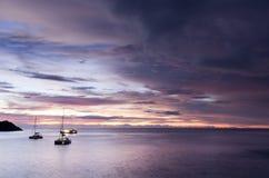 Racha di tramonto raya Immagine Stock